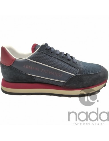 A|X Sneaker Blue Navy & Bordeaux
