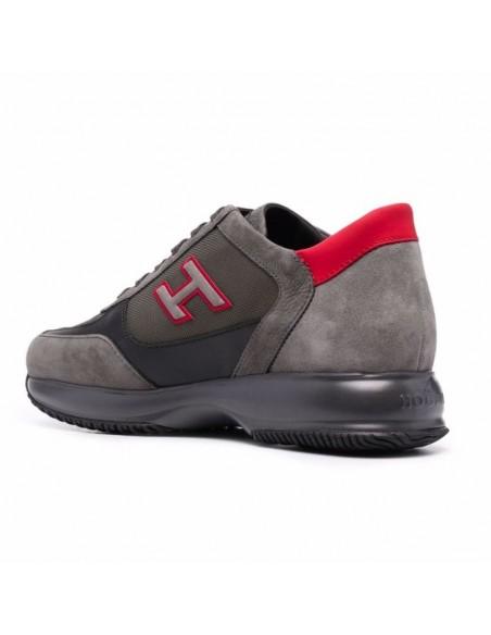 Hogan New Interactive Grigio Rosso Sneakers